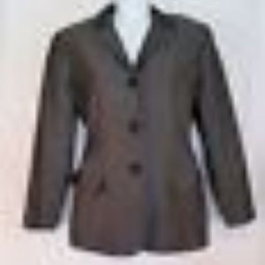 Ann Taylor Blazer Long Sleeved Jacket Charcoal 4p